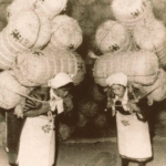 米俵の女性